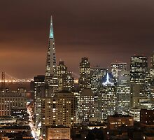 San Francisco skyline at night panorama 3 by Can Balcioglu