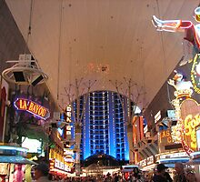 Fremont Street Experience by Sharry Akin