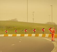 Belgium Highway Man by Paul Vanzella