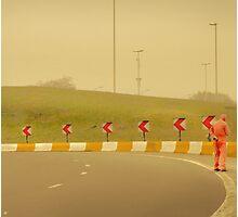 Belgium Highway Man Photographic Print