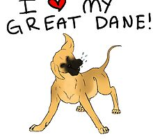 Great Dane Lover by Bug1112