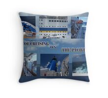 Cruising the Blue  Throw Pillow