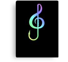 Music Hooks Colorful Canvas Print