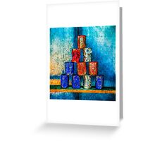 Soup Cans - Square Meal Greeting Card