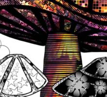 the Mushroom in Technicolor  Sticker
