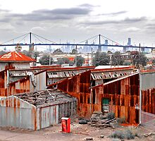 Altona Rust looking to Westgate Bridge by Victor Pugatschew