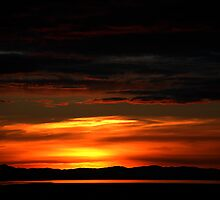 Sunset Over Great Salt Lake by Ryan Houston