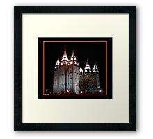 Salt Lake Temple at Night Framed Print
