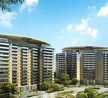 Commercial Building Exterior Modeling Design by 3dwalkthrough