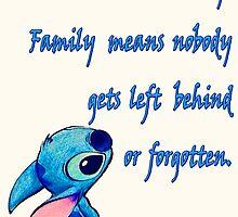 Lilo and Stitch - OHANA quote by peetamark