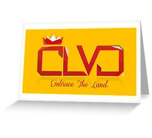 """WINE & GOLD"" ROYAL TEE - CLVD® Greeting Card"