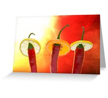 The Red, the Hot, the Chili Greeting Card