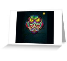 """""""Angry Owl by Night"""" Greeting Card"""