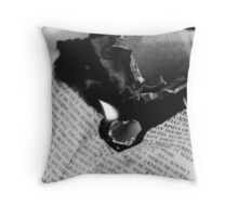 Burning Heart flames to my Loving Hate Throw Pillow