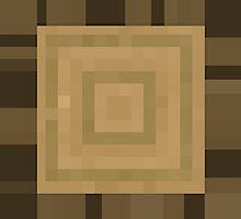 Minecraft Wood Block by janeemanoo