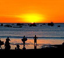 Bright Future - San Juan del Sur Beach at Sunset by Mark Tisdale