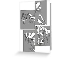 Cowboy Bebop Panels 2 Greeting Card