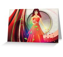 Lady in red dress 3 Greeting Card
