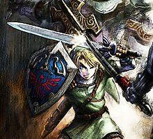 Link Fighting - the Legend of Zelda by peetamark