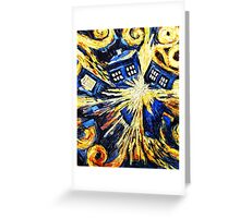 Tardis by Van Gogh - Doctor Who Greeting Card