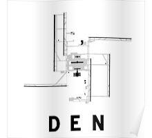 Denver Airport Diagram Poster