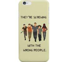 TWD- Rick Carl Michonne Daryl Glenn Quote iPhone Case/Skin