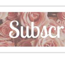 Floral Subscribe Button Sticker