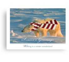 Walking in a polar bear's wonderland Canvas Print