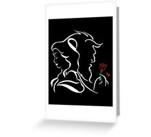 Belle, The Beast and The Rose - The Beauty and The Beast Greeting Card