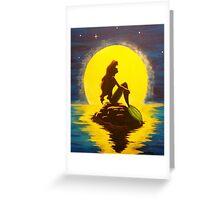 Ariel & the Moon - the Little Mermaid Greeting Card
