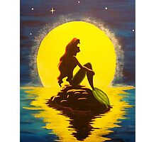 Ariel & the Moon - the Little Mermaid Photographic Print