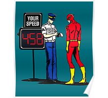 The Flash Funny Nerdy Poster
