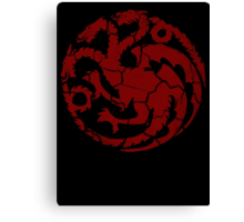 House Targaryen Worn Canvas Print