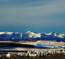 Snowy Rockies by Al Bourassa