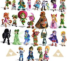 the legend of zelda characters by triforceyeah89