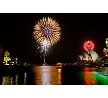 Sydney Australia 2008 New Years Eve Fireworks Photographic Print