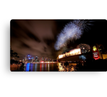 Sydney New Year's Eve Fireworks Canvas Print