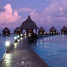 Maldivian Water Bungalows by sarahnewton