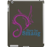 Here be Smaug - Pink & Blue, for Army T-Shirt iPad Case/Skin