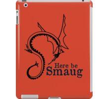 Here be Smaug - Black & Navy, for Orange T-Shirt iPad Case/Skin