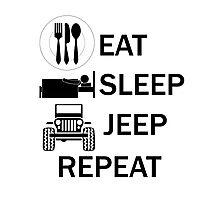 EAT-SLEEP-JEEP-REPEAT Photographic Print
