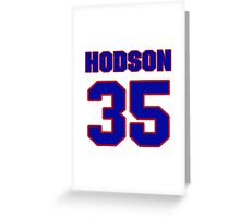 National Hockey player Kevin Hodson jersey 35 Greeting Card