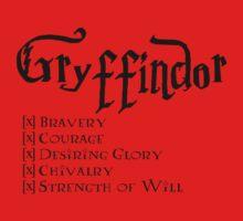 I'm a Gryffindor by goshcas
