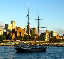 Sailing Through South Street Seaport by Jamie Greene
