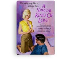 Sexy Pulp Fiction Cover - Reprint of Vintage Pulp Sex Novel Canvas Print