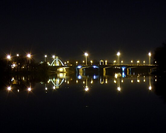 Queen Elizabeth Way Bridge Night View by Marc Evans