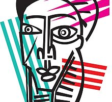 Life Lines  -  Face,  No.5 by Shawn Skeir