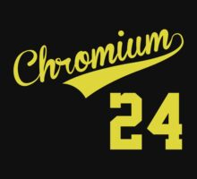 Cool Baseball-Style 'Chromium (Cr) 24' Periodic Table Element T-Shirt and Accessories by Albany Retro