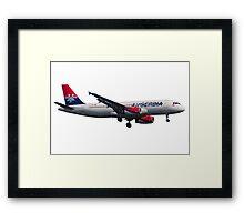 Air Serbia Airbus A320 Framed Print