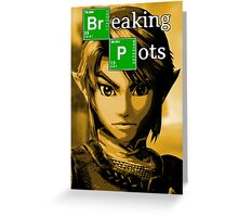 Breaking Pots Greeting Card